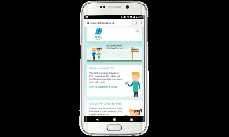 EAV Website on mobile