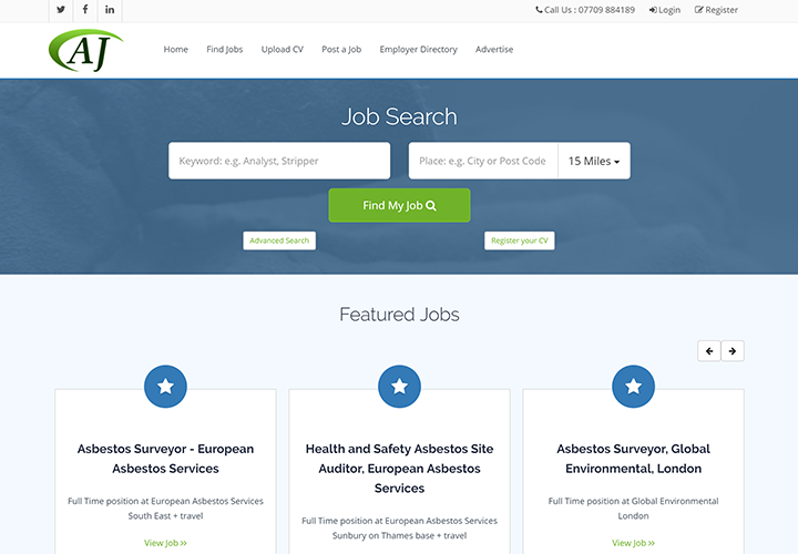 New Asbestos Jobs website