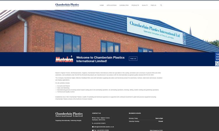 Chamberlain Plastics WordPress Website