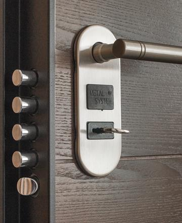 Multi-lock security on door