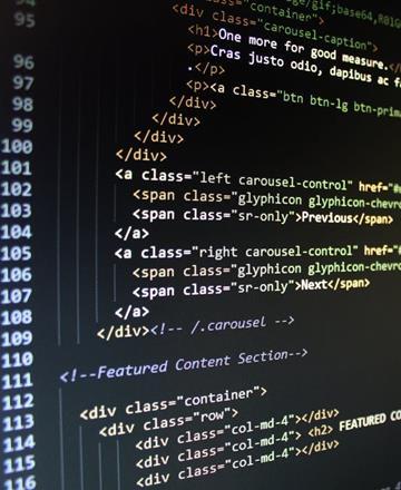 Coding on black screen