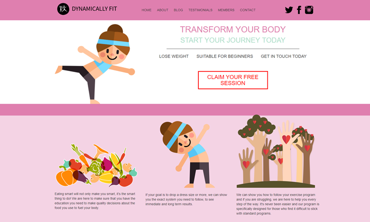 Dynamically fit website