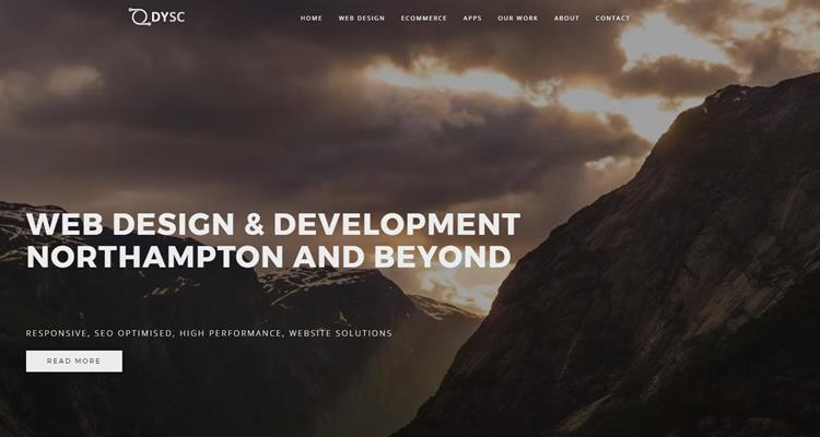 DYSC Homepage new web design