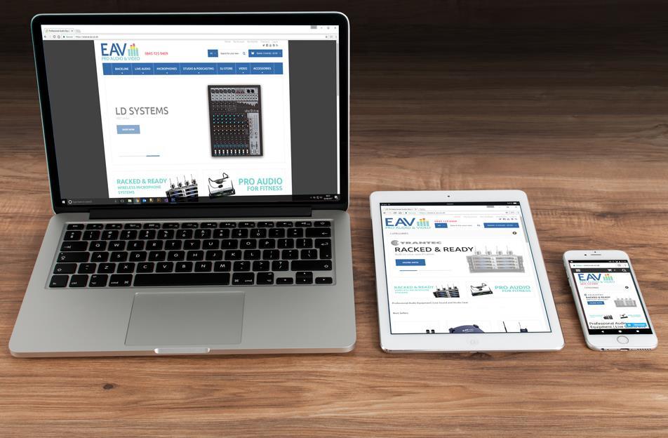 e-av pro audio homepage