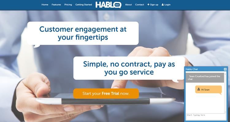 Hablo chat website