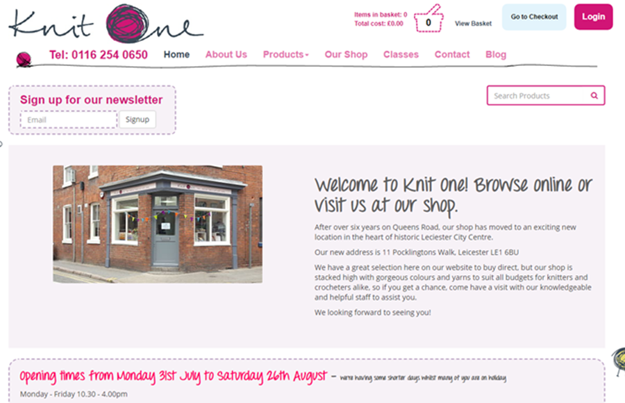 Knit One Website