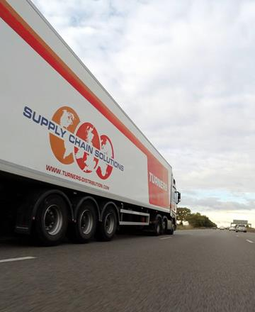 Logistics lorry driving