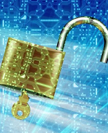 Online padlock - security