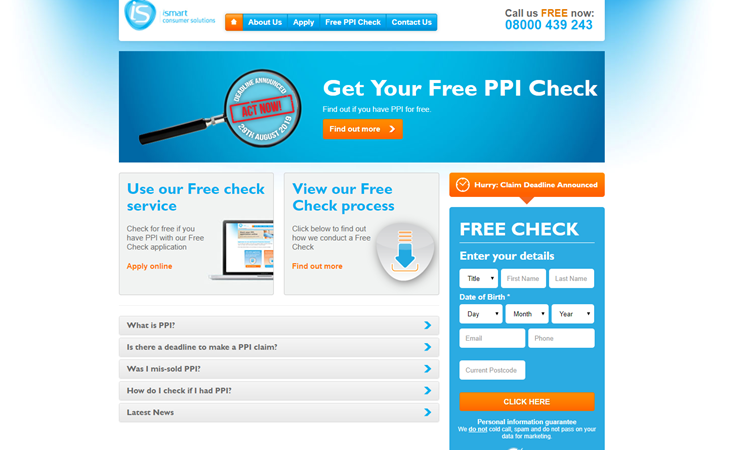 ppi.co.uk website homepage