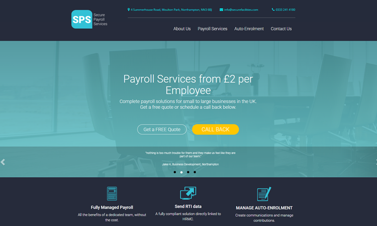 Secure Payroll Services Home Page
