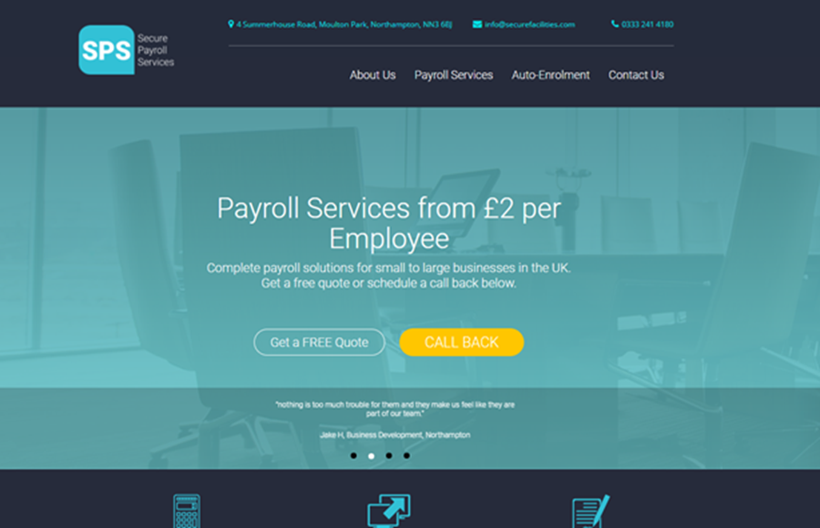 Secure Payroll Services Website
