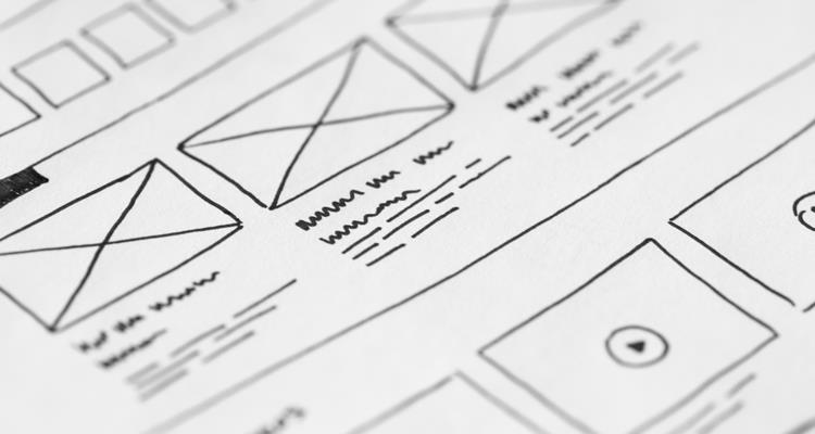 Bespoke website wireframes